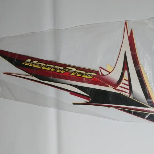 Foto Produk Stiker Bodi & Lis Body & Striping Megapro 2006 Hitam Merah dari Lestari Motor 2