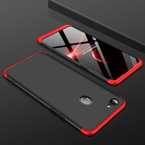 Foto Produk 360 protection slim matte full armor case oppo F7 - black red dari importking