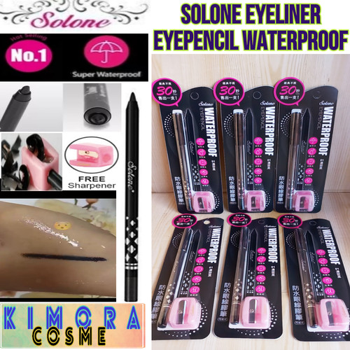 Foto Produk Eyeliner Eyepencil Waterproof Solone Made In Taiwan dari KimoraCosme