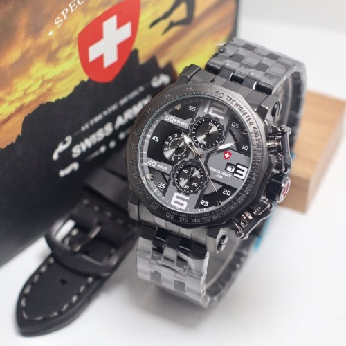 Foto Produk jam tangan SWISS ARMY PRIA SAFETY BUTTOM WATCH SET dari Multyshop MSI
