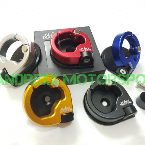 Foto Produk Hook / Gantungan Barang Black Diamond for Nmax,Vario 125,Vario 150 - Hitam dari Bandrexx Motorsport