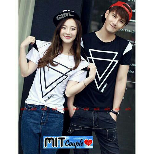 Foto Produk Kaos couple triangle lengan pendek dari Grosir Baju Couple :)