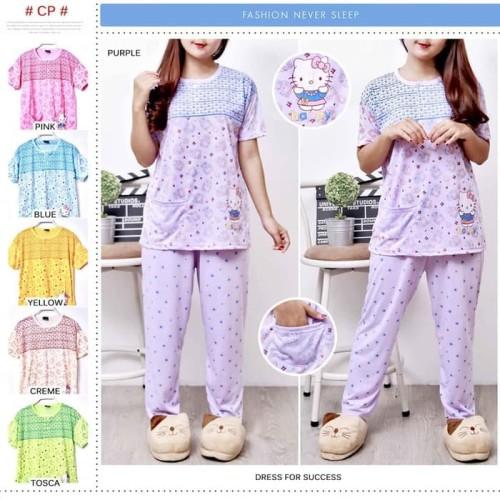Foto Produk piyama dewasa katun Pendek panjang - baju tidur dewasa - babydolls dari toko mantap999