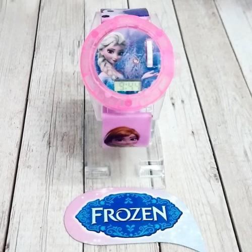 Foto Produk Jam tangan anak proyektor jam tangan anak perempuan frozen elsa ana dari waw03