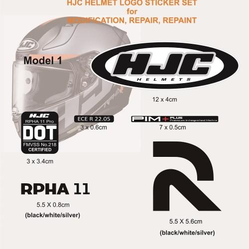 Foto Produk Sticker Set Helm HJC untuk repair, repaint, modif INK KYT ARAI SHOEI dari Fuel