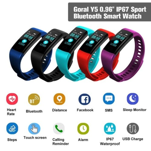 Foto Produk Y5 smart band Fitness Bracelet Bluetooth Color Lcd Screen Sport dari ELLEXUS SHOP