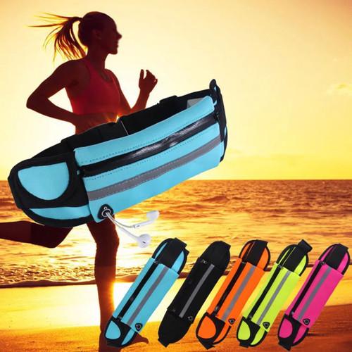 Foto Produk Waterproof Waist Bag Running Belt Tas Pinggang Olaharaga Jogging Lari dari YeoMart