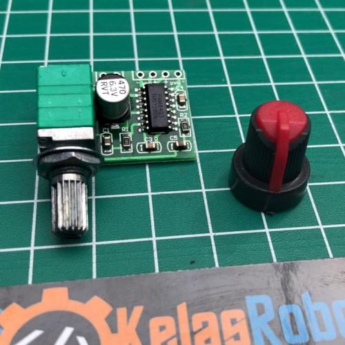 Foto Produk Mini Ampli Potensio 5V PAM8403 Digital Power Amplifier USB 3W Stereo dari Kelas Robot