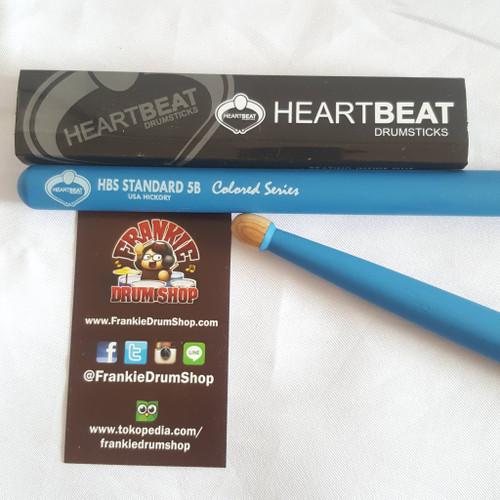 Foto Produk HeartBeat HBS5BHACBL - 5B Blue HBS Standard Acorn Tip Hickory Stick dari FrankieDrumShop