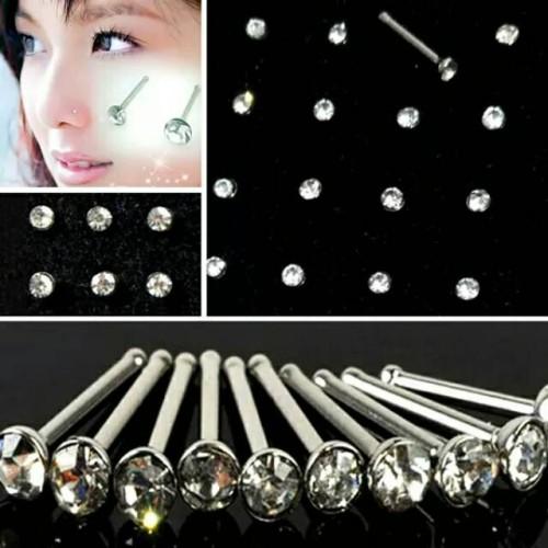 Foto Produk Anting hidung/stud nose/anting tusuk stenlis isi 24 pcs - Warna Warni dari Primer Grosir
