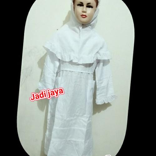 Foto Produk Baju muslim putih anak perempuan seragam manasik anak dari Jadi Jayaa123