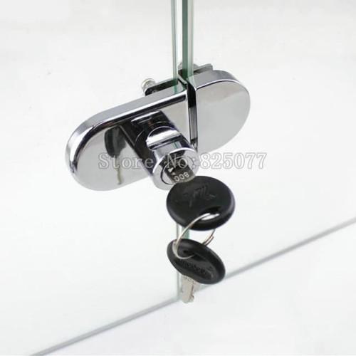 Foto Produk Kunci Pintu Kaca Showcase Double Glass Cabinet Showcase Lock dari genhardware