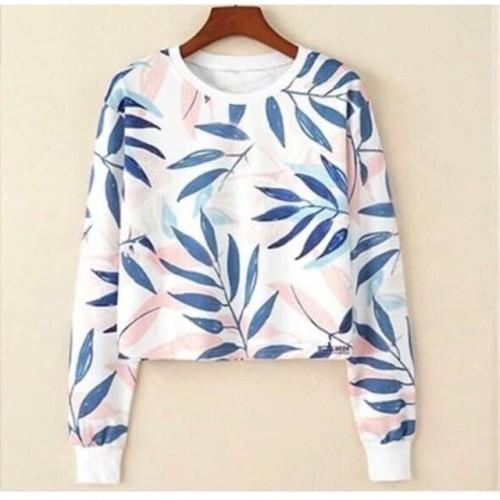 Foto Produk Damai fashion jakarta - baju atasan sweater crop wanita FITRI dari LV.co Tanah abang