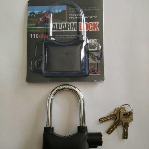 Foto Produk kunci gembok cakram Ban motor gembok Alarm padlock getar Ring Pendek dari angel-city