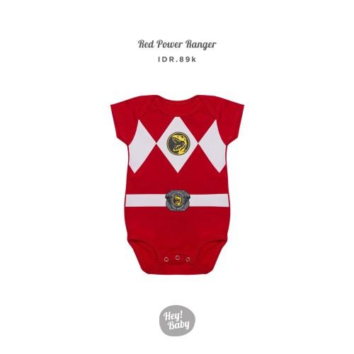 Foto Produk Hey Baby Red Power Ranger Romper Jumper Bayi - 3-6 bulan dari Hey! Baby