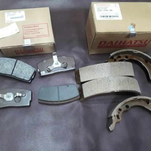Foto Produk KAMPAS REM DEPAN BELAKANG ZEBRA 1.3-1.5/ESPASS 1.3-1.6 ASLI dari KING'S AUTO