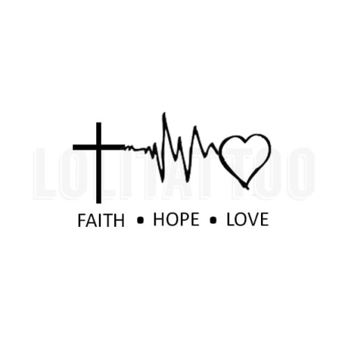 Foto Produk Lolitattoo Temporary Tattoo Faith Hope Love dari Lolitattoo Shop