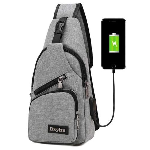 Foto Produk Promo Tas Selempang dengan USB Charger Port - Berkualitas - Hitam dari Rimas Technology