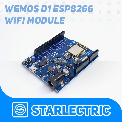Foto Produk WeMos D1 Wifi ESP8266 NodeMCU ESP-12E Arduino UNO Based Shield dari Starlectric