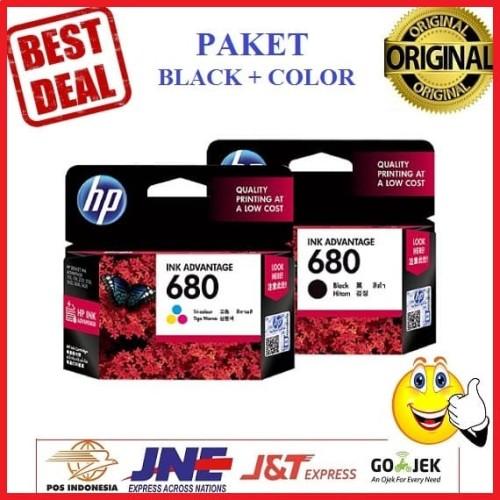 Foto Produk Paket Tinta HP 680 Black Dan Color Printer HP Deskjet 2135 3635 dari Finel Computer Bintaro