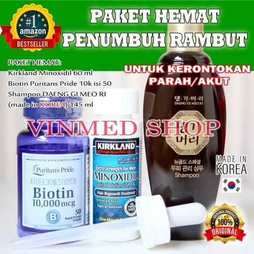 Foto Produk Kirkland minoxidil+Biotin+shampoo GOLD Daeng Gi Meo Ri Korea dari vinmed