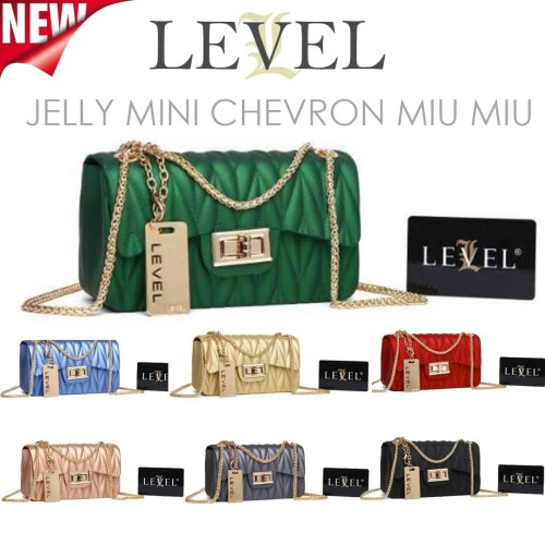 Foto Produk TAS JELLY DOFF MINI CHEVRON V FASHION WANITA BATAM IMPORT BARU MURAH dari handbagku