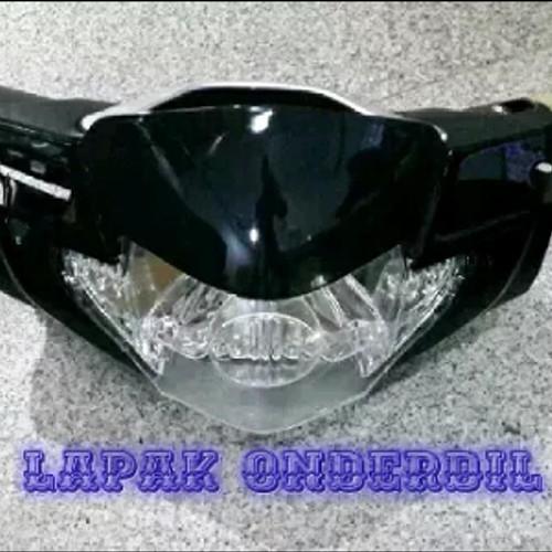 Foto Produk batok kepala depan belakang supra x 125 lama plus reflektor lampu dari ONDERDIL MOTOR PEDIA