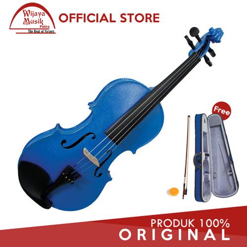 Foto Produk Cremona Biola / Violin (1/2) SV-75 / SV-75BU - Biru dari Wijaya Musik Putra
