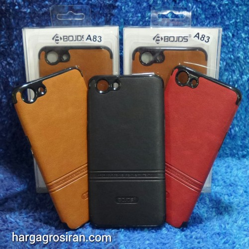 Foto Produk Oppo A83 Elegan Leather Back Case - Silikon Bahan Kulit Design Simple dari Distributor Aksesoris HP