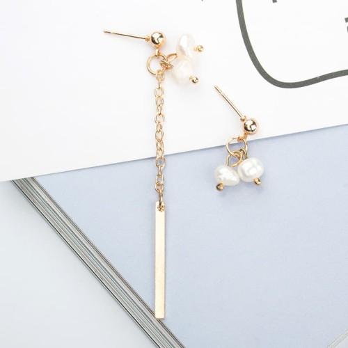 Foto Produk anting asimetris mutiara fashion korea dangling pearl earrings jan133 dari Oila