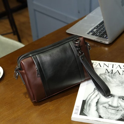 Foto Produk Clutch pria handbag cowok kulit import kantor - HTI0311 dari Hoki Te It