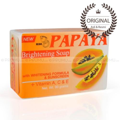 Foto Produk [ASLI & RESMI] Sabun RDL Papaya 90 gram - Sabun Pepaya Whitening Soap dari PRUMU dot com