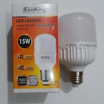 Foto Produk Lampu LED Bulb Jumbo 15 Watt Super Terang Putih - EcoKIng 15W dari GRAHA ELECTRIC SHOP