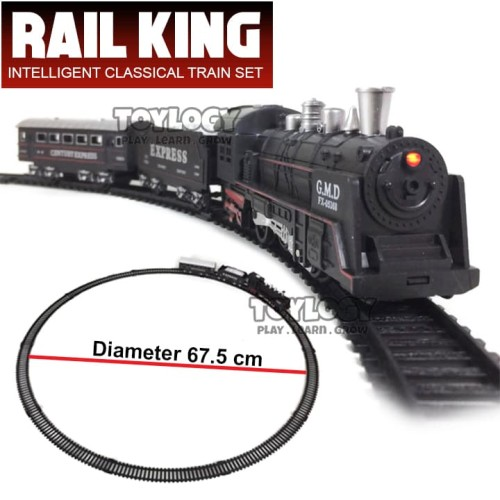 Foto Produk Mainan Anak Kereta Api Lokomotif Rail King Intelligent Classical Train dari Toylogy