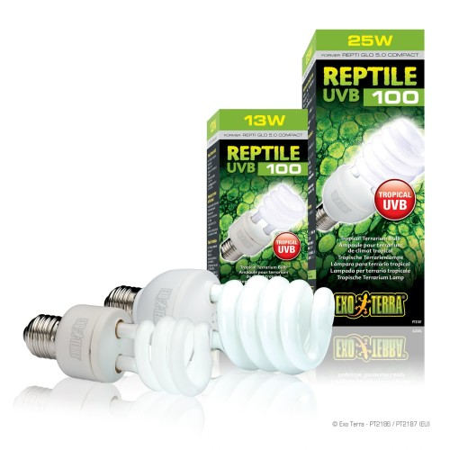 Foto Produk Reptile UVB 100 25 watt Exoterra dari mulia jaya tortuga