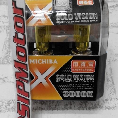 Foto Produk Lampu Michiba Gold Vision 3000K H4 60/55watt Cahaya Kuning dari SIPMotor