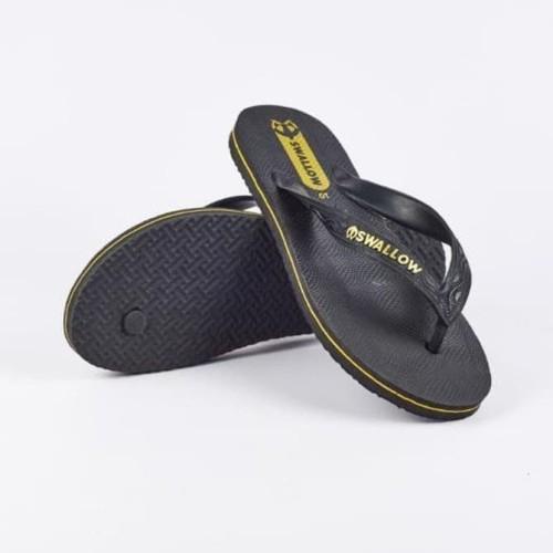 Foto Produk Promo -- Sandal Jepit Swallow Black Pearl Hitam Sendal Karet Pria dari Syariah_212