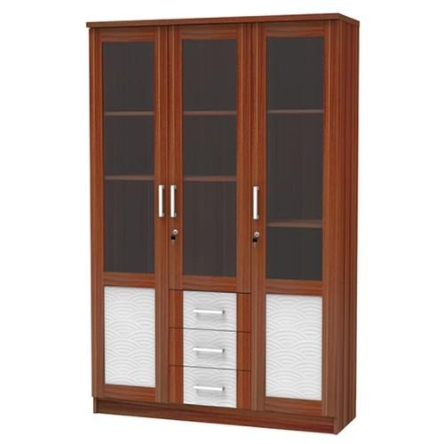 Foto Produk Lemari Hias Tiga Pintu Modern French Walnut LH 9030 dari Super Furniture Online