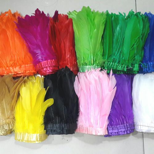 Foto Produk Bulu Ayam Batang Jahit Meteran dari VictoriaMG2 Shop