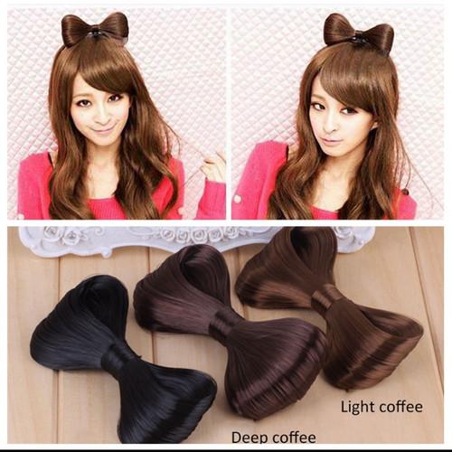 Foto Produk cute look ribbon hair clip - light coffee dari cute-korean
