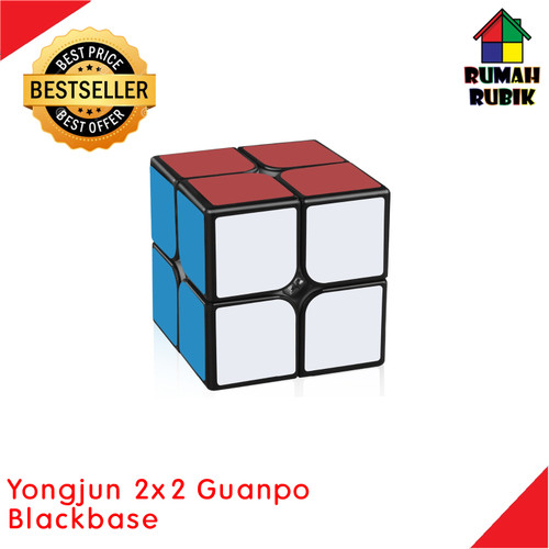 Foto Produk Rubik 2x2 Yongjun Blackbase / Mainan Edukasi / Rubik Yongjun / Rubik dari Rumah Rubik