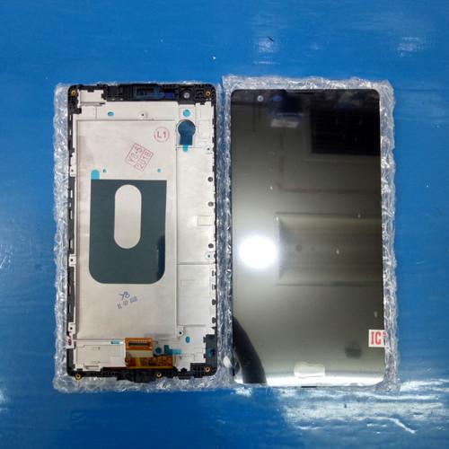 Foto Produk LCD + TOUCHSCREEN + FRAME LG K220 / X POWER ORIGINAL - Hitam dari KING sparepart