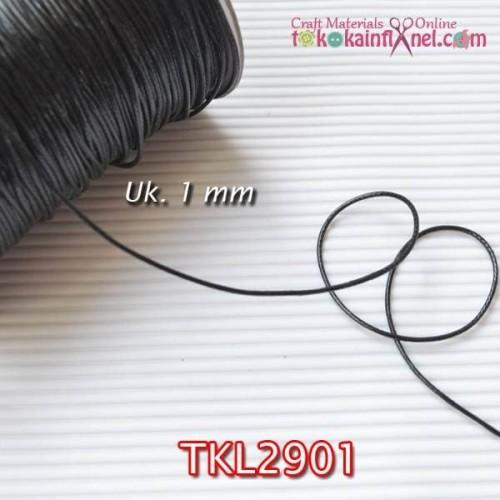 Foto Produk TKL2901 Tali Korea 1mm Hitam (Per meter) dari Toko Kain Flanel dot com