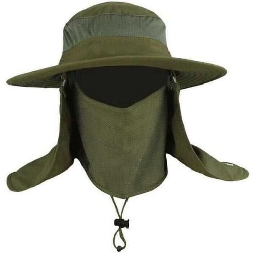 Foto Produk Topi mancing anti uv / topi jepang / Topi Gunung dengan Sarung Wajah dari Rumah Susun