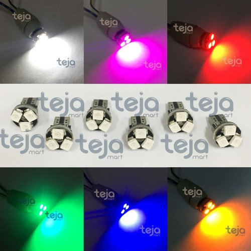 Foto Produk Lampu LED T5 Speedometer Dashboard 3 SMD 1210 Model Jamur Mobil Motor - Putih dari TejaMart