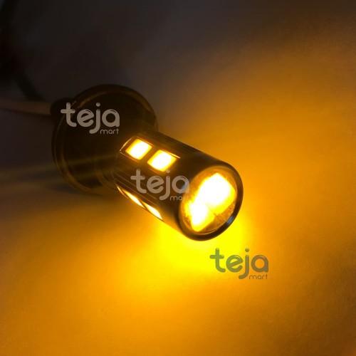 Foto Produk Lampu LED Canbus T10 Proyektor 10 Titik Sein Kuning Amber Aluminium dari TejaMart