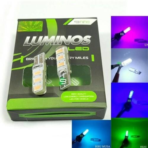 Foto Produk Lampu LED T10 Model Jelly , Kota, Senja, Speedometer Merk Luminos dari saungmotor