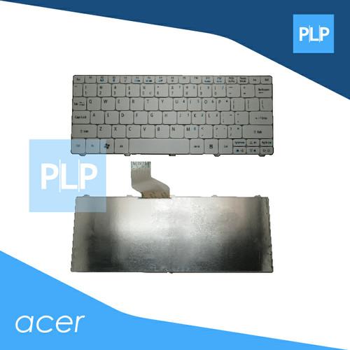 Foto Produk Keyboard Acer Aspire One 532, 522, 532H, 532G, AO532/H, AO522 Putih dari PioneerLaptopParts