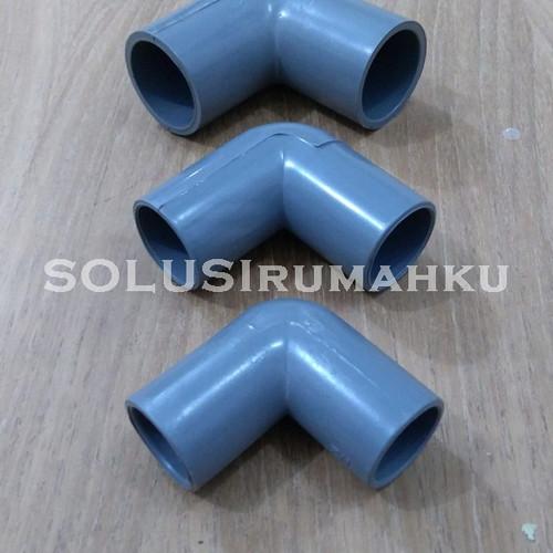 """Foto Produk Knee PVC AW 1"""" Knie Keni Belokan Bengkokan PVC 1 Inch In MASPION dari SOLUSIrumahku"""