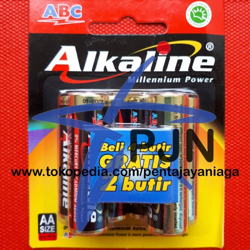 Foto Produk Baterai ABC Alkaline AA / A2 isi 6 dari pentajayaniaga